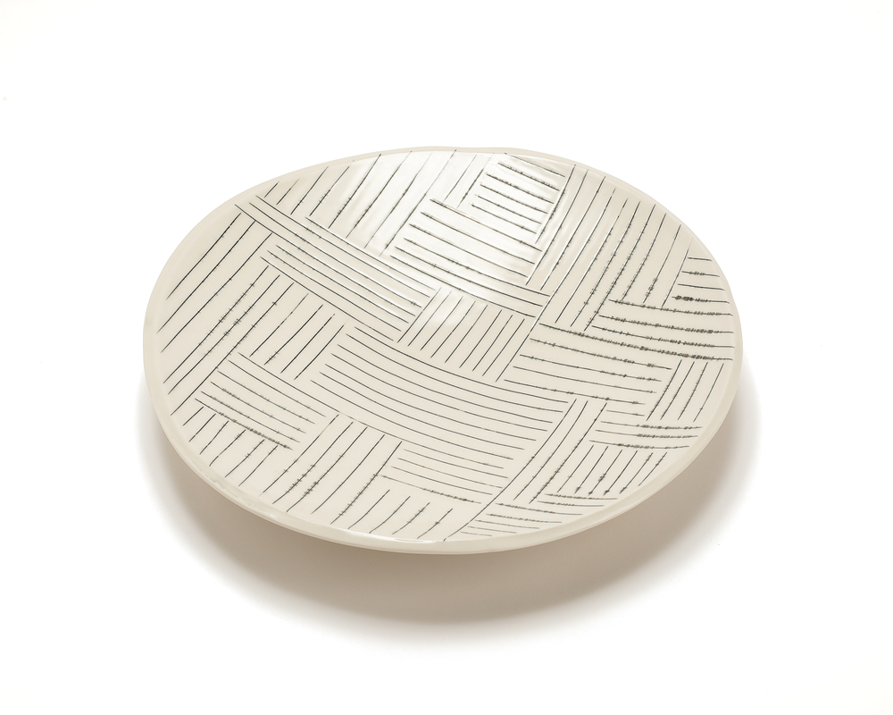 Med. Round Platter: Copan Pattern