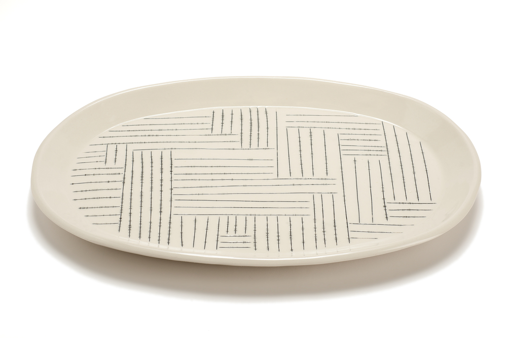Oval Serving Platter: Copan Pattern