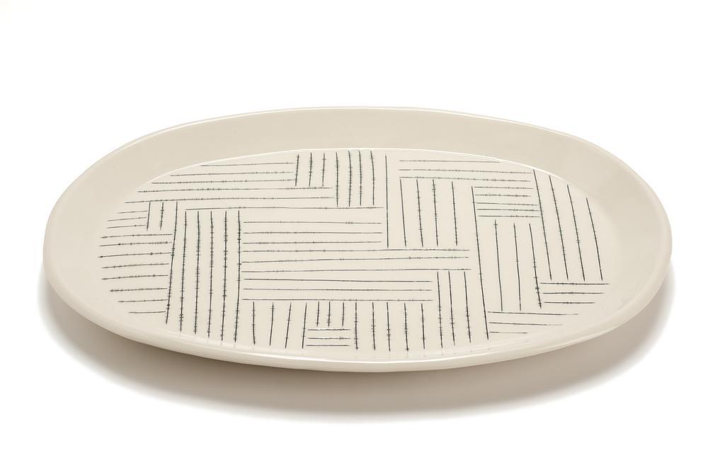 Oval Serving Platter: Copan Pattern