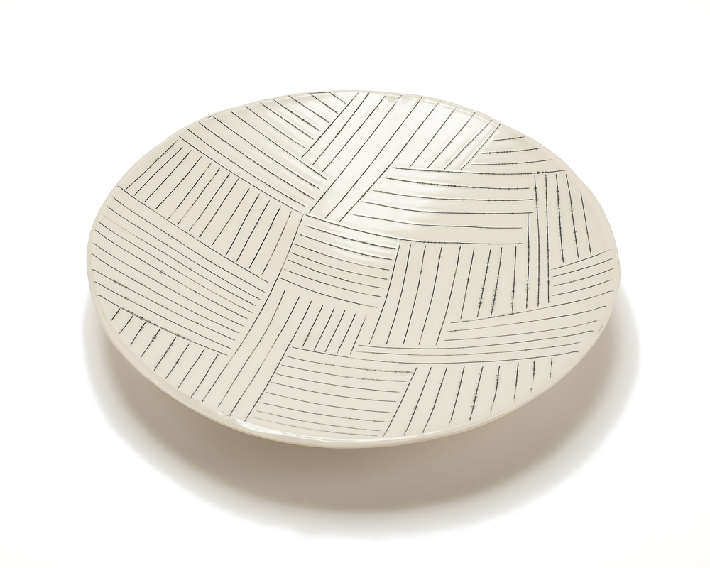 Lg. Round Serving Platter: Copan Pattern