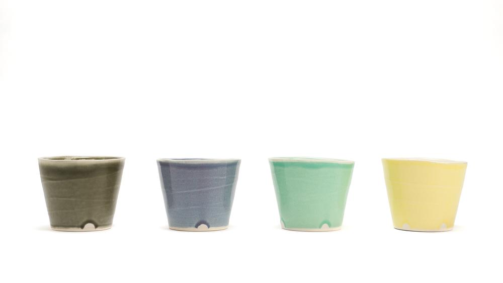 Spring Colorways: Earl Gray, Blue Smoke, Mint Green, Meyer Yellow