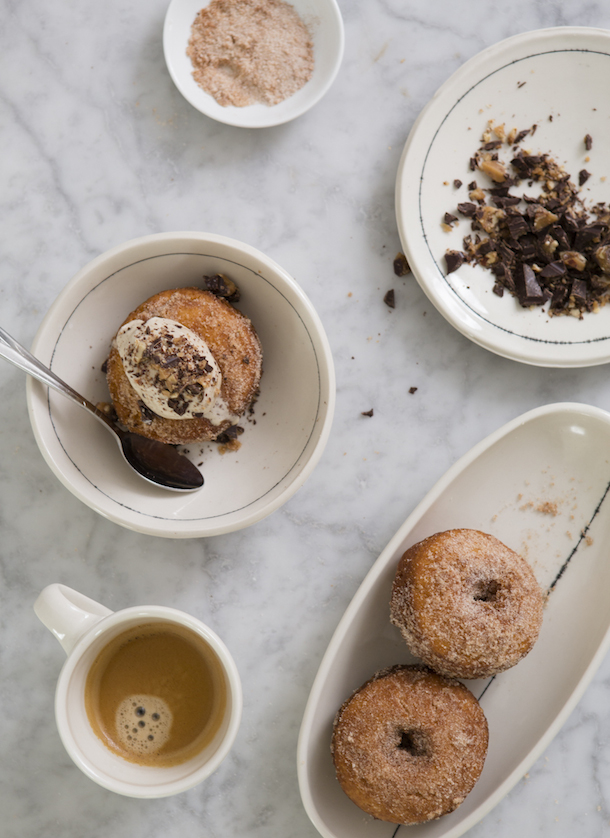 Cinnamon Donuts with Chef Callie Speer-photo from camillestyles.com