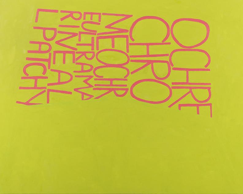 "Allyson Clay, OchreChromeOchre, oil on linen, 43"" x 59"", 2013"
