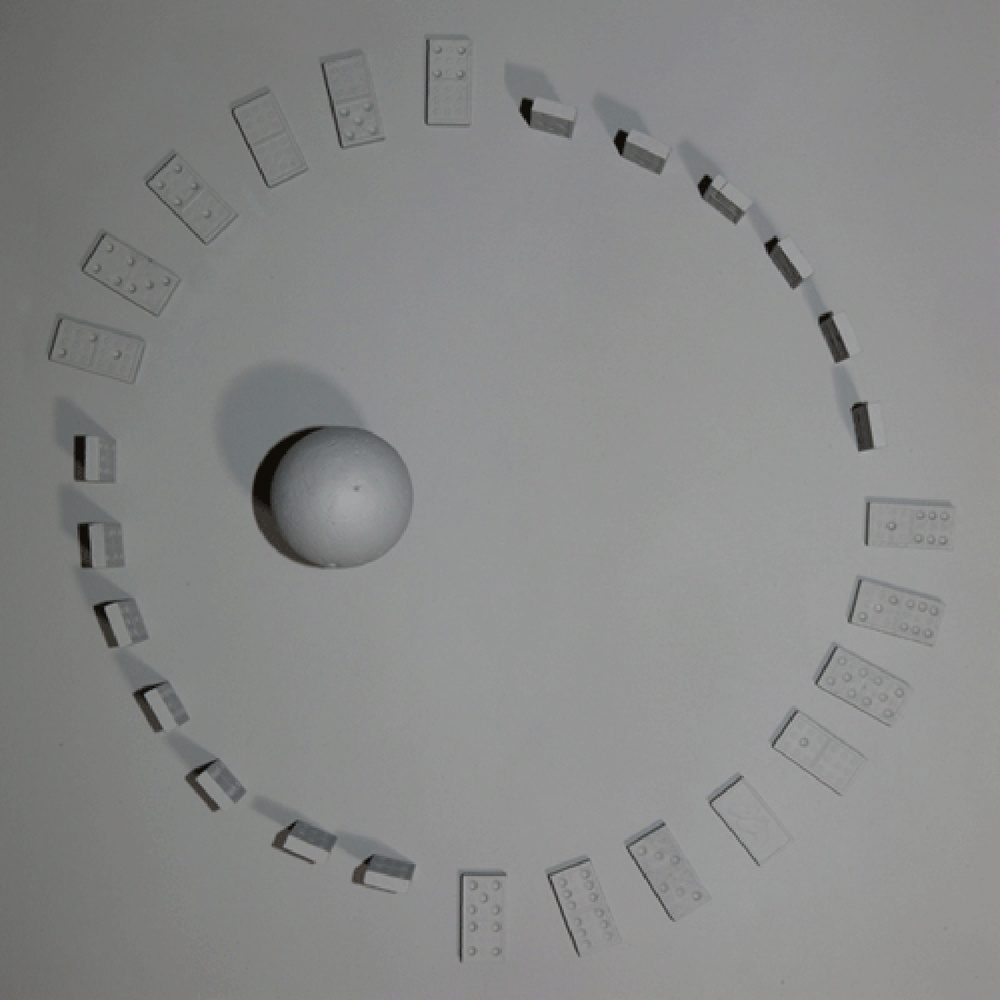 "Cultural Capital Consortium (Documentation from the collection of Annabella Scondi), Foucault's Pendulum, c-print, 18"" x 18"", 1979-2005 (documented 2014)"