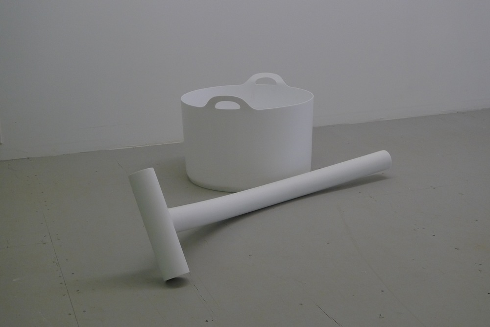 "Mark Gomes, two piece, 16"" x 60"" x 44"", Corian Plastic, 2015"