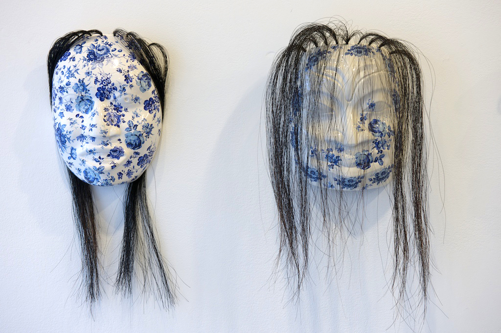 Nicholas Galanin, S'igeika'awu: Ghost, ceramic and horse hair, 2009