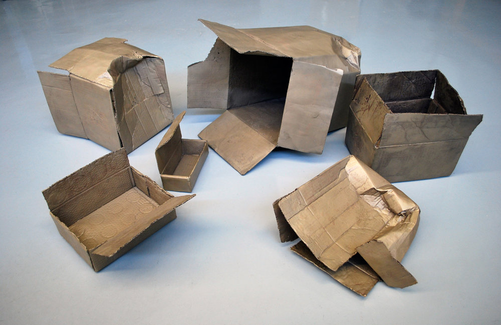 Zeke Moores, Boxes, cast bronze, dimensions variable. Photo Credit: Lucy Howe.
