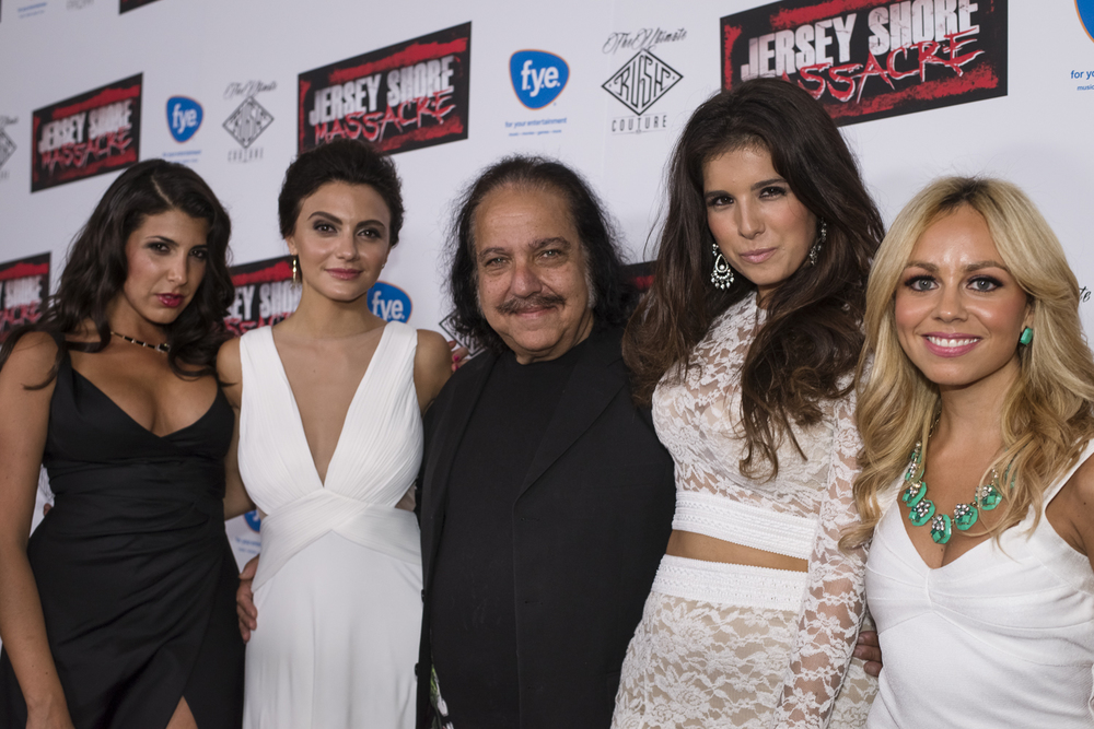 Ron Jeremy and the actresses