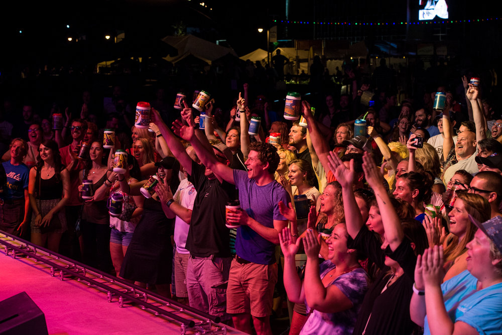 Atmosphere of Summer Music Festival  Musikfest, August 2016 in Bethlehem, Pennsylvania.  Americaplatz.