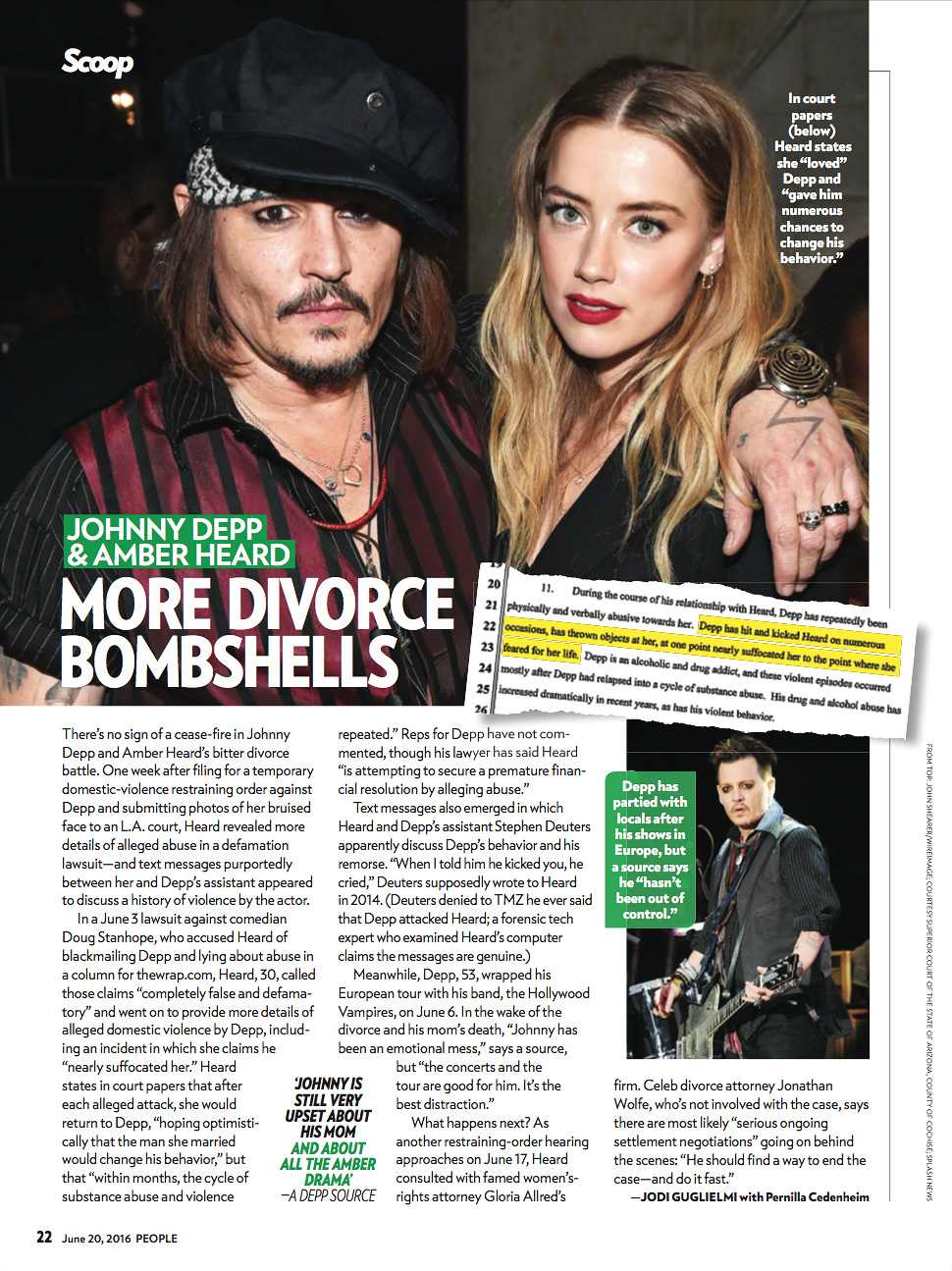 Johnny Depp and Amber Heard Divorce