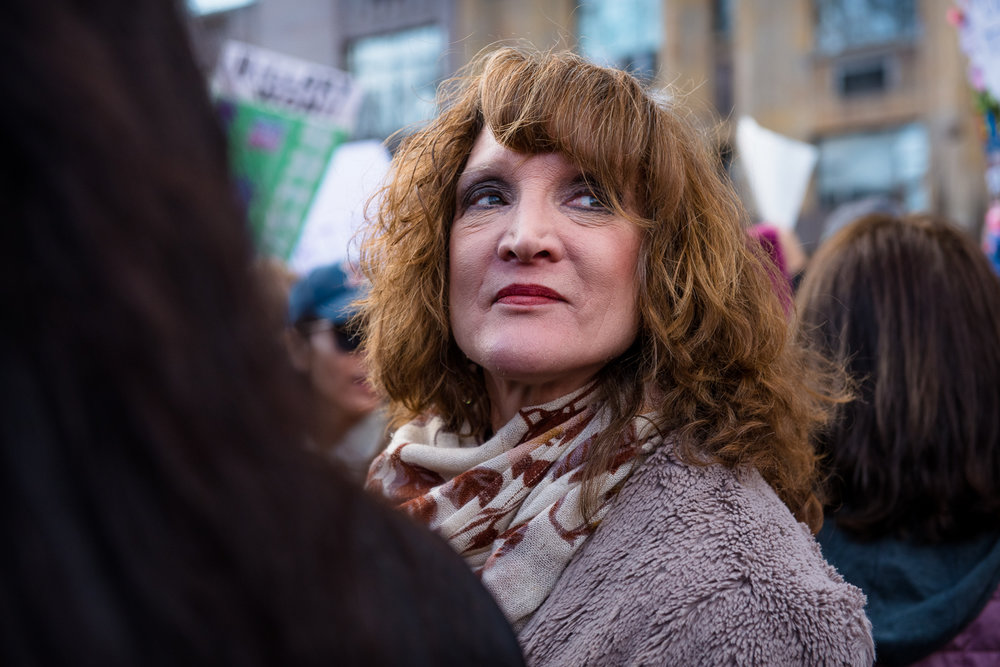 Faces of the women's march -