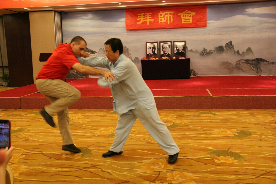 Push Hands - Master Wang Fengming and Dr. Henry McCann demonstrating Push Hands in Anhui, China (August 2017).