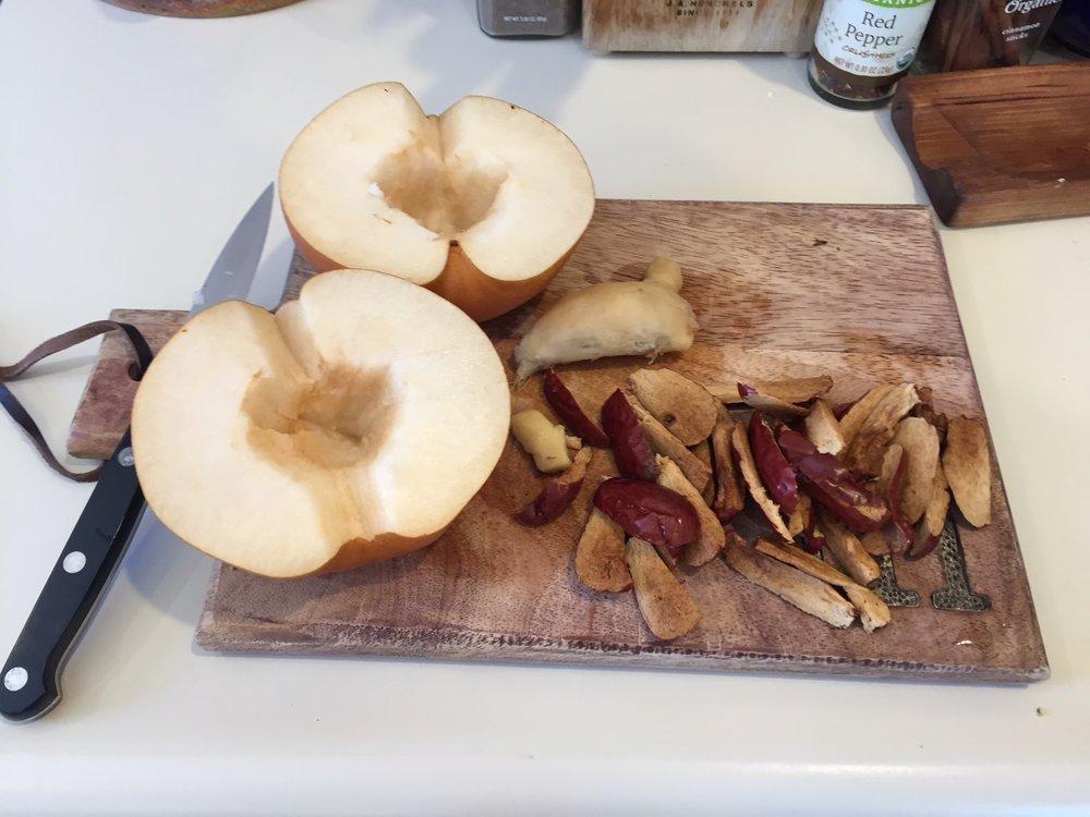 Ingredients after preparation