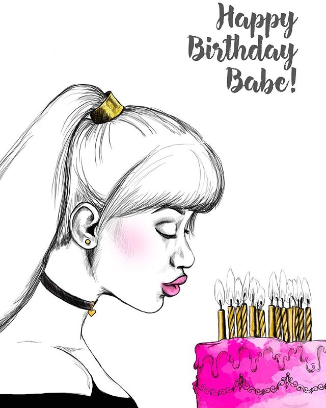 Happy Birthday Babe! Shop Our Forever 21 Card #birthday #birthdaygirl #stationery #greetingcards #buyblack #webuyblack #shopsmall #shop #happybirthday #forever21 #1 #pisces #gemini #leo #support #birthdaycake #illustration #jj #fashion #fashionillustration #me #fashionblogger #newyork