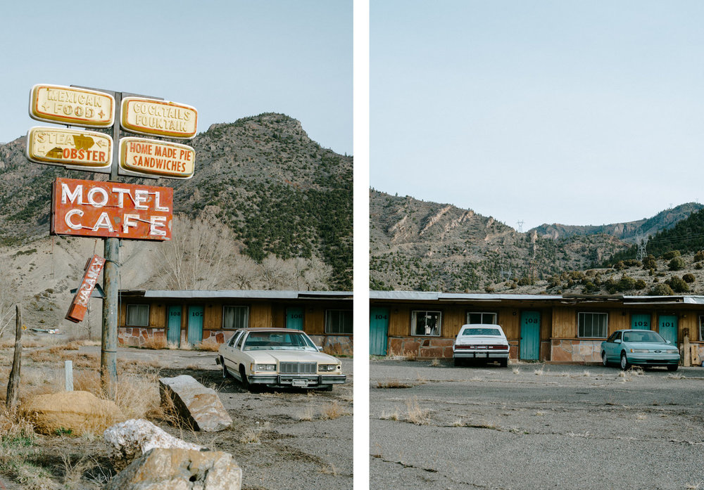 Blue Mesa | Gunnison, Colorado 2018 | An old abandoned motel of highway 50, a place my great-grandfather would frequent on his trails home form spending time up on the mesa, caring for the cattle and horses my family owned.