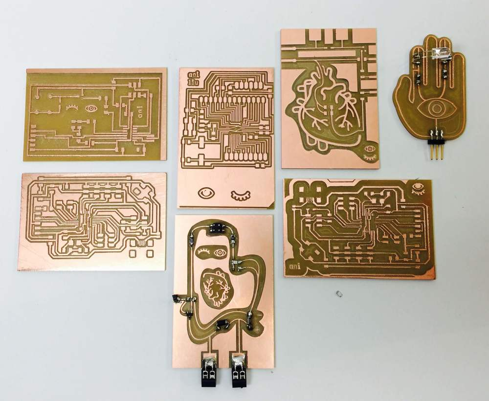 This is a collection of the embedded aesthetic PCBs that I have designed.