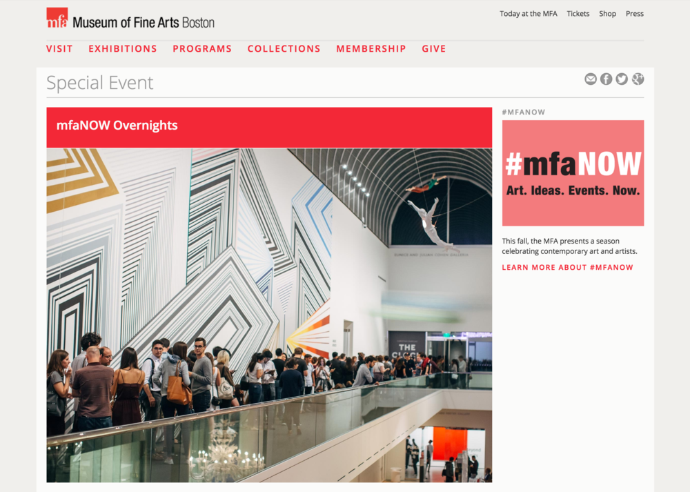 """Boston Museum of Fine Arts :  mfaNOW  Excited to be building a participatory experience with the MIT Hacking Arts team for the mfaNOW event at the Boston MFA. Our event is titled """"Primordial Spoofs: Heavy Petting Zoo,"""" and is complete with a robotic cat cafe and de/re-constructed memories."""