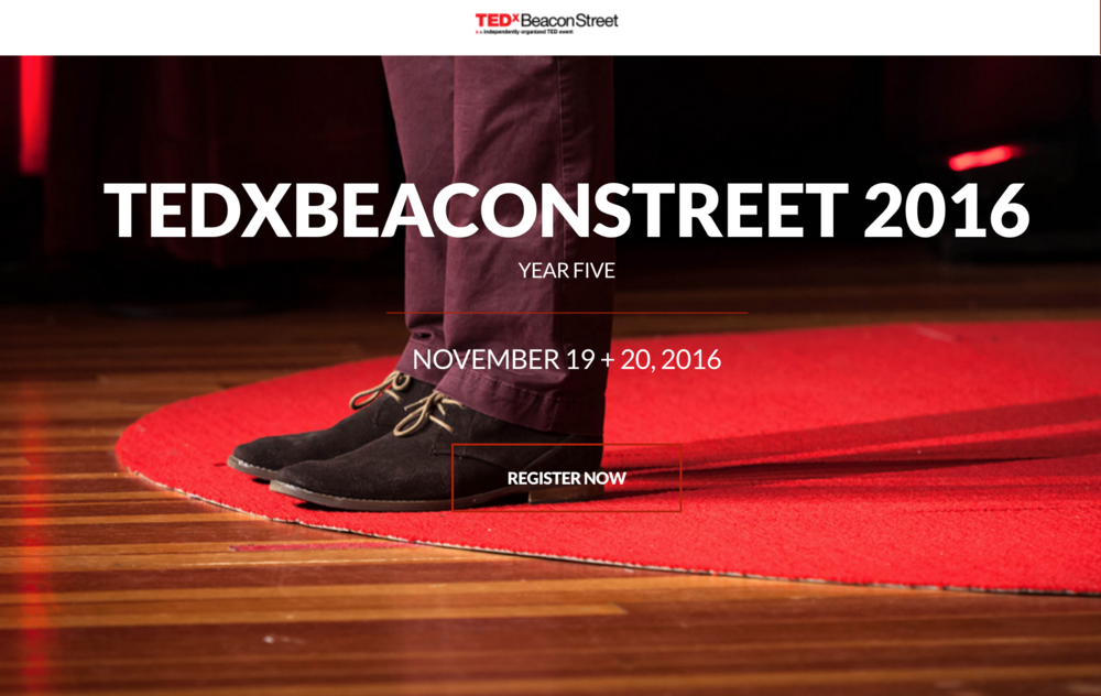 Looking forward to presenting at this year's TEDx Beacon Street!  I will be speaking about the intersection of art, science, biotech and emotion.