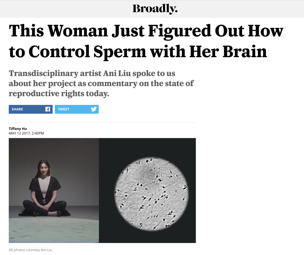 This Woman Just Figured Out How to Control Sperm with Her Brain - on VICE/ Broadly.Written by Tiffany Hu