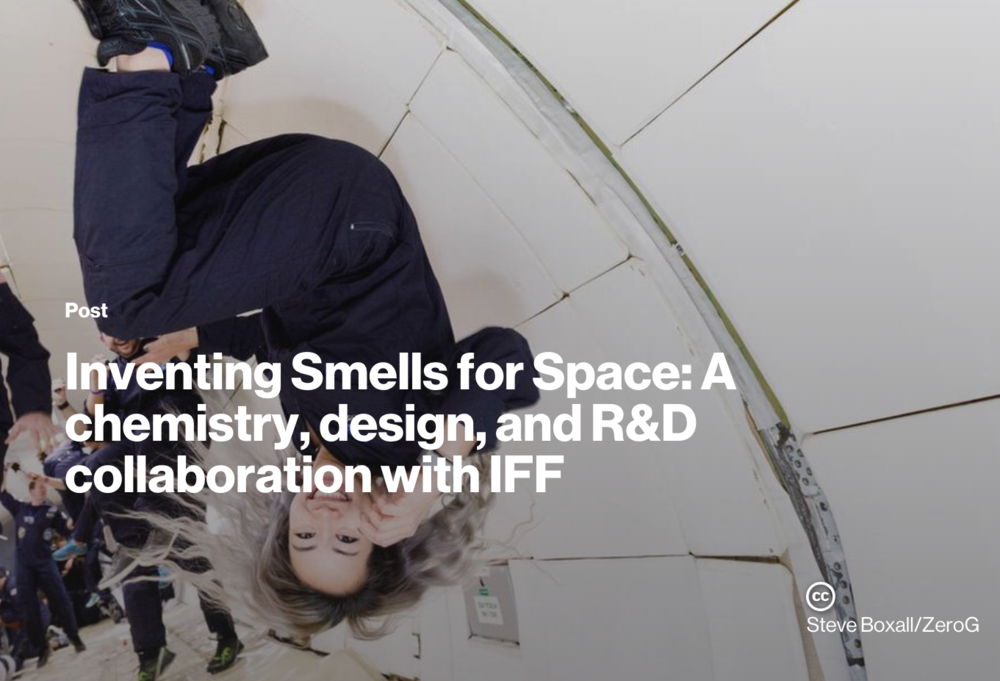 Inventing Smells for Space: A chemistry, design, and R&D collaboration with IFF - MIT MEDIA LAB