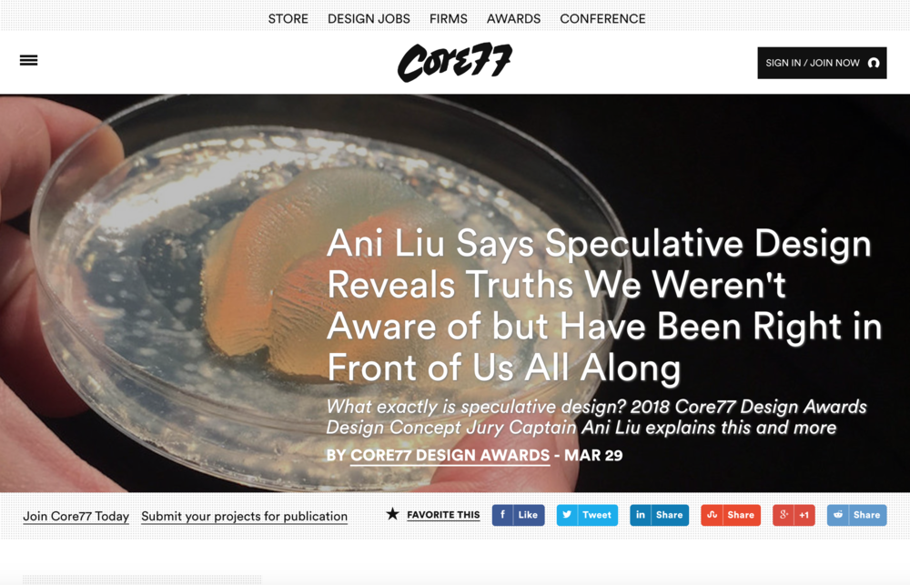 Interview on the Importance of Speculative Design - CORE77