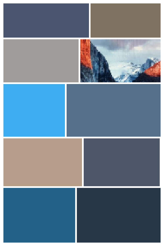 Yosemite I - Screen Shot interpreted as Digital Layout, Archival Inkjet Print