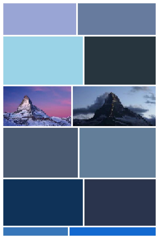 Matterhorn II -  - Screen Shot interpreted as Digital Layout, Archival Inkjet Print