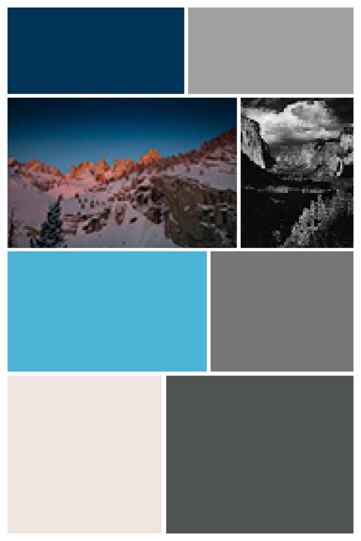 Yosemite II  - Screen Shot interpreted as Digital Layout, Archival Inkjet Print