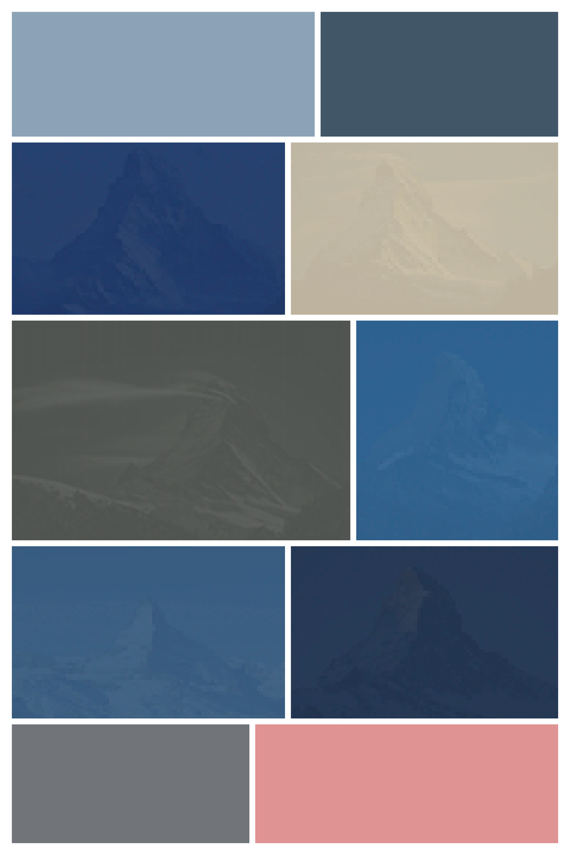 Matterhorn III  - Screen Shot interpreted as Digital Layout, Archival Inkjet Print