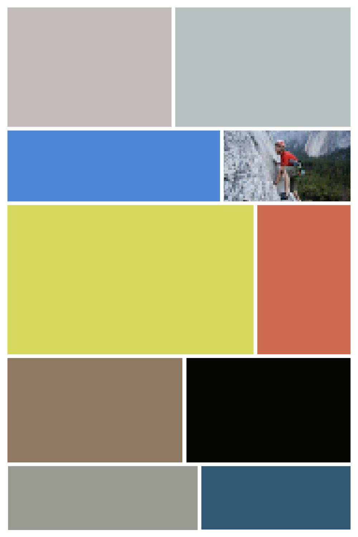 Yosemite III  - Screen Shot interpreted as Digital Layout, Archival Inkjet Print