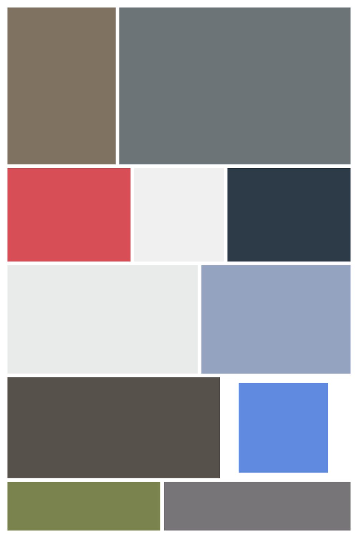 Color Feilds  - Screen Shot interpreted as Digital Layout, Archival Inkjet Print