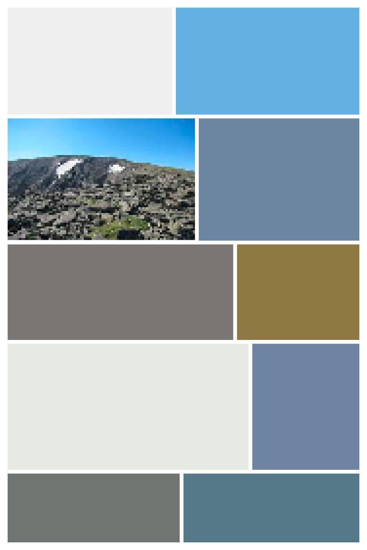 Mount Ida I - Screen Shot interpreted as Digital Layout, Archival Inkjet Print