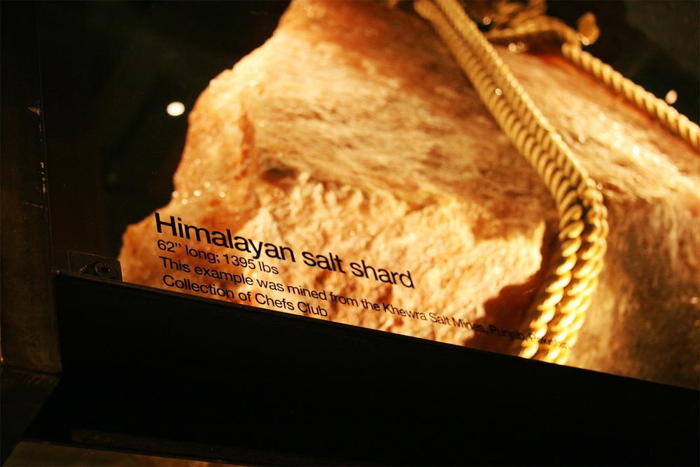 "Himalayan salt shard; 62"" long, 1395 lbs."