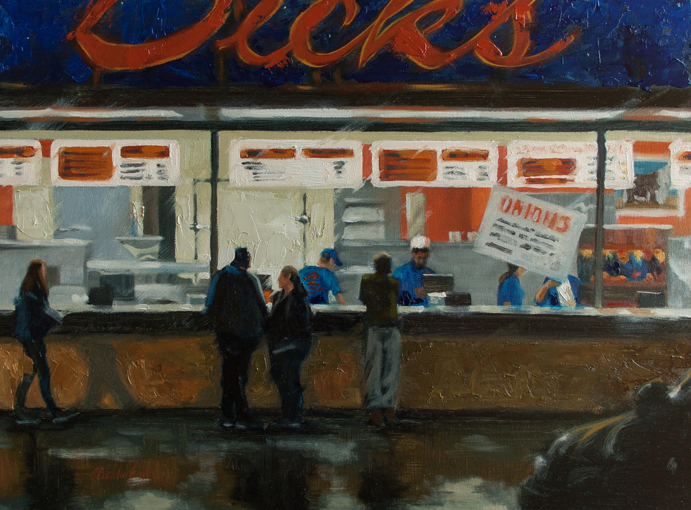 Late Night Snack, 12x16-in, Oil on cradled board