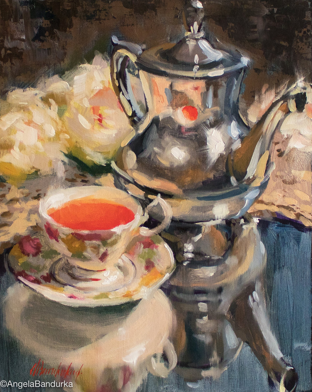Heirloom Tea, 10x8, Oil