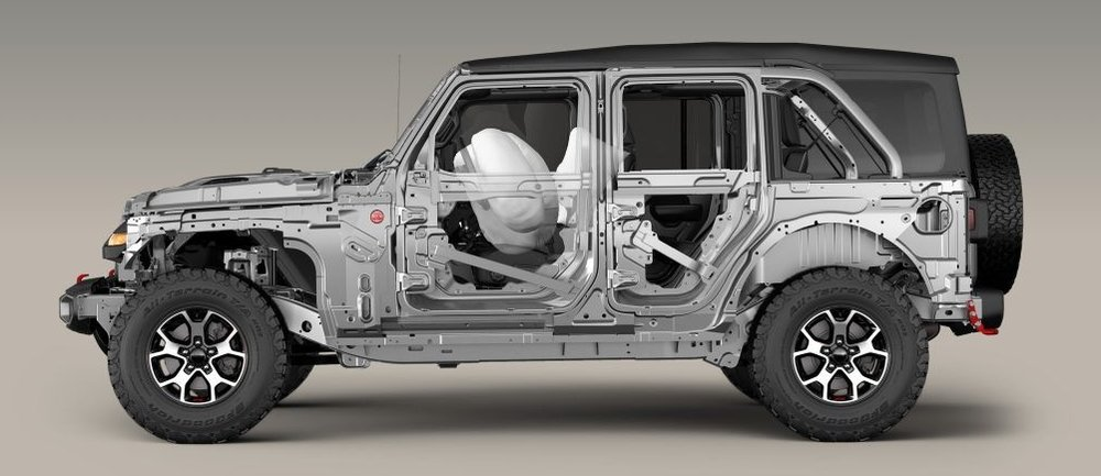 Cutaway of 2018 Jeep Wrangler Rubicon (JLUR)