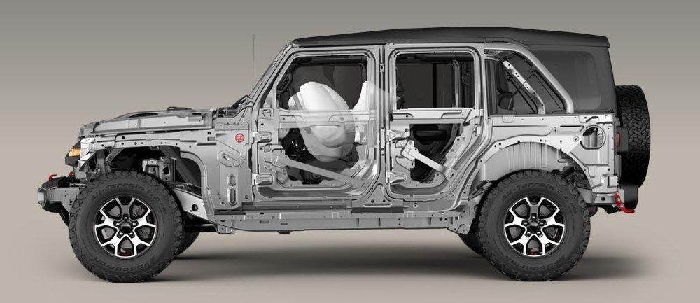 Cutaway of 2018 Jeep Wrangler Rubicon (JLUR)