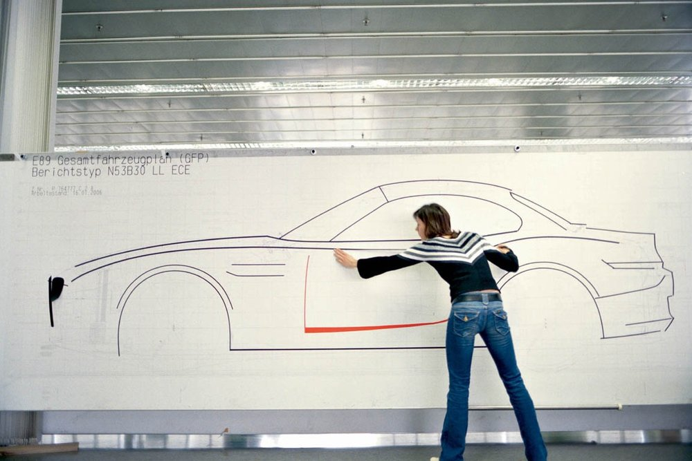 On the Line:  Julian Blasi, Exterior Designer for the BMW E89 shapes the outlines of the third generation Z4.