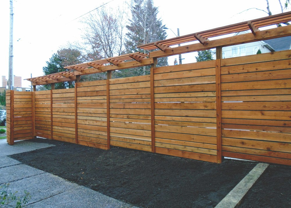 custom fence with grape trellis seattle urban farm company