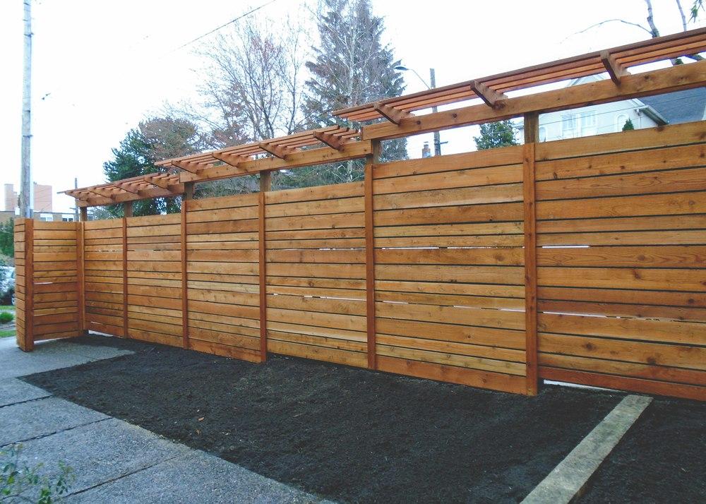 Trellis Fencing Ideas Part - 37: Custom Cedar Fence_Seattle Urban Farm Co_.jpg