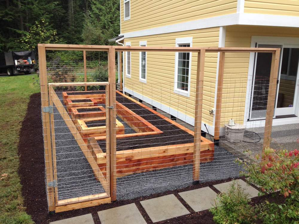 Enclosed raised bed garden seattle urban farm company for Enclosed vegetable garden designs