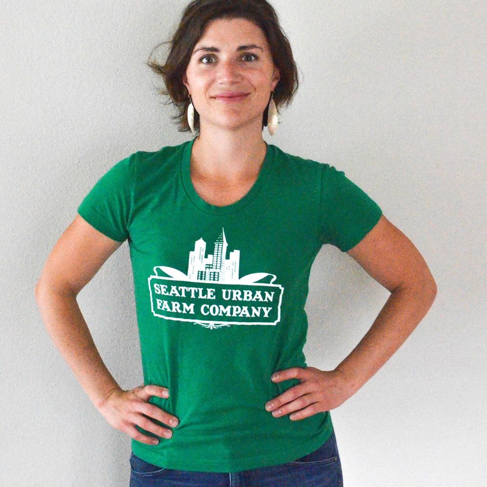 0084dcbc Seattle Urban Farm Company T-Shirt - Women's Kelly Green — Seattle Urban  Farm Company
