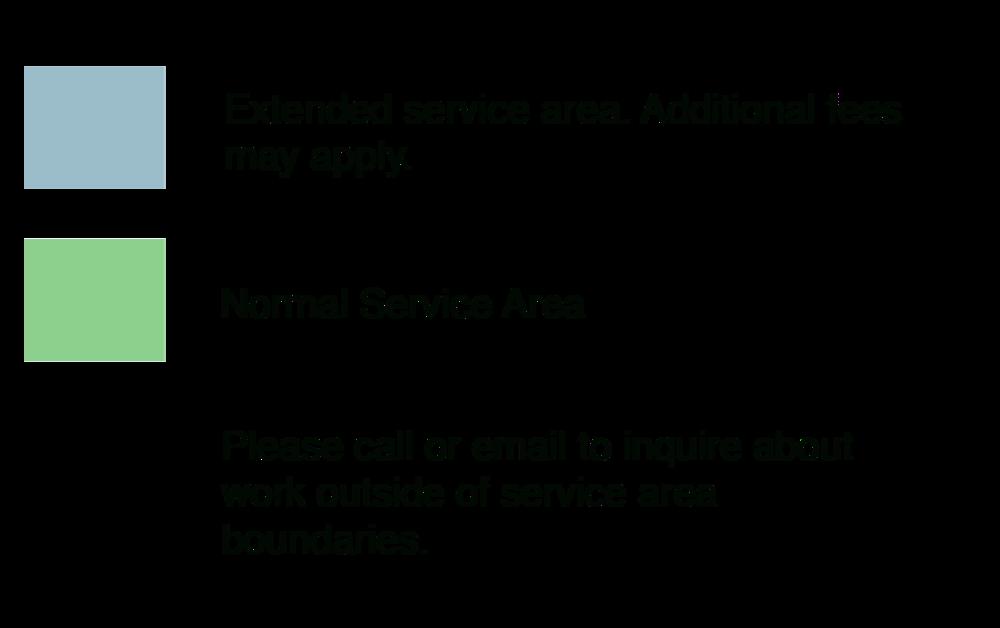 Seattle Urban Farm Co Service Area Key