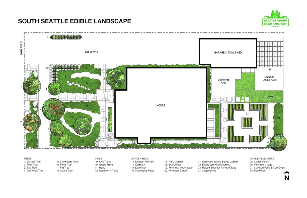 South Seattle Edible Landscape Plan_Seattle Urban Farm Co.