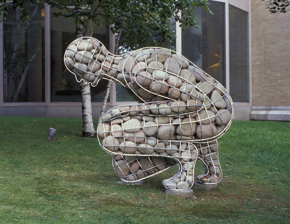 Celeste Roberge, Rising Cairn, Portland Museum of Art, commissioned by the museum in 2000 #4/10
