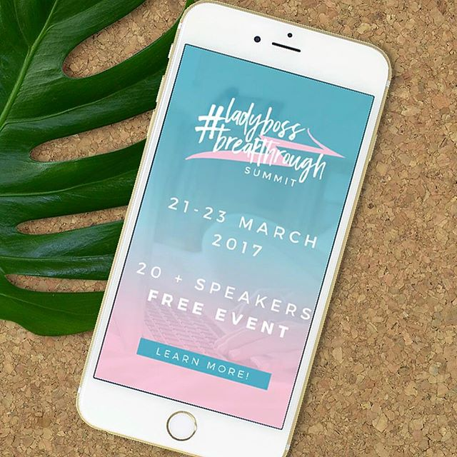 I am sooo excited for this and want to be sure you know about it too! It's going to be a massive three days of online presentations and interviews about business, branding, photography, blogging and productivity! Accelerate that #ladyboss status 🙌🏻 I've mentioned that it's free, right?! Join ME on Day Two! Link to register is in my profile! 👈🏻👈🏻