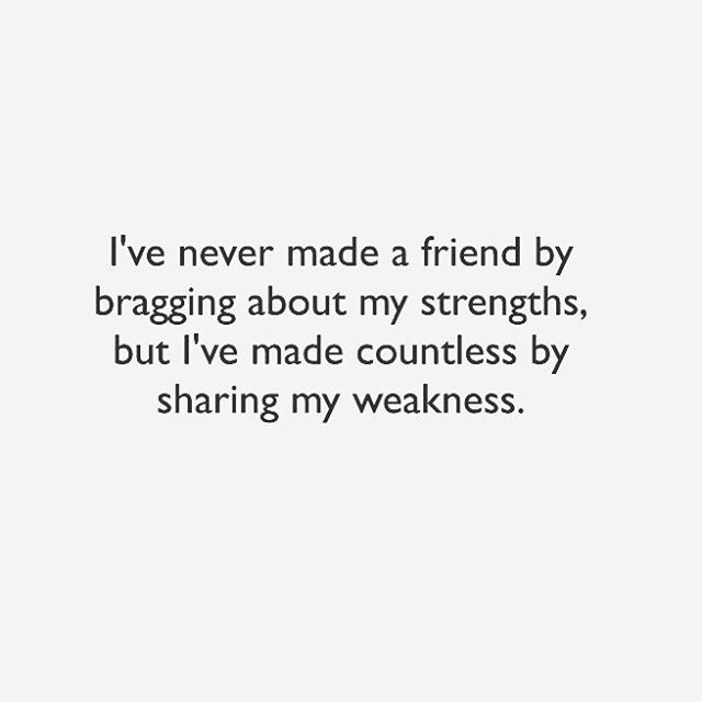 Truth. And I hope I'll be remembered for this rather than any bragging moments I've had...