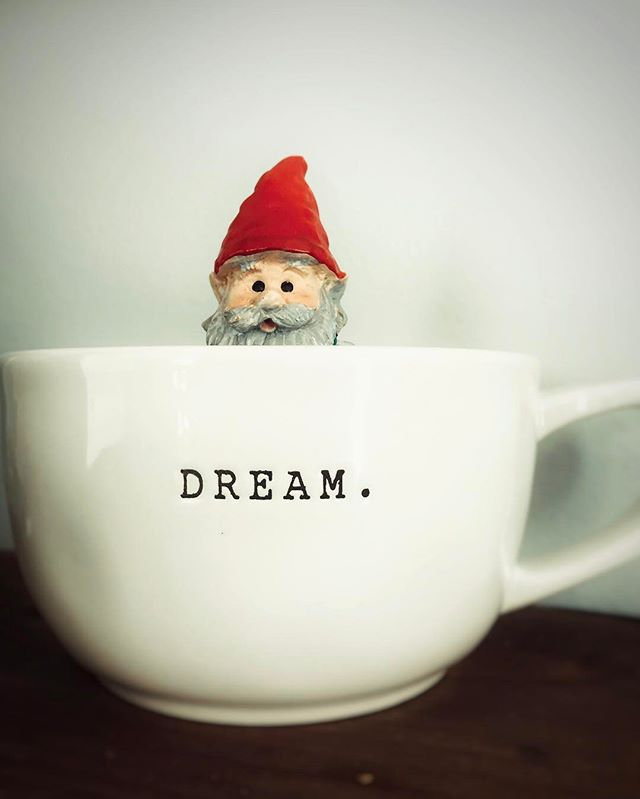 My nosy but cute office buddy. He reminds me to #dreambig #gnomelife
