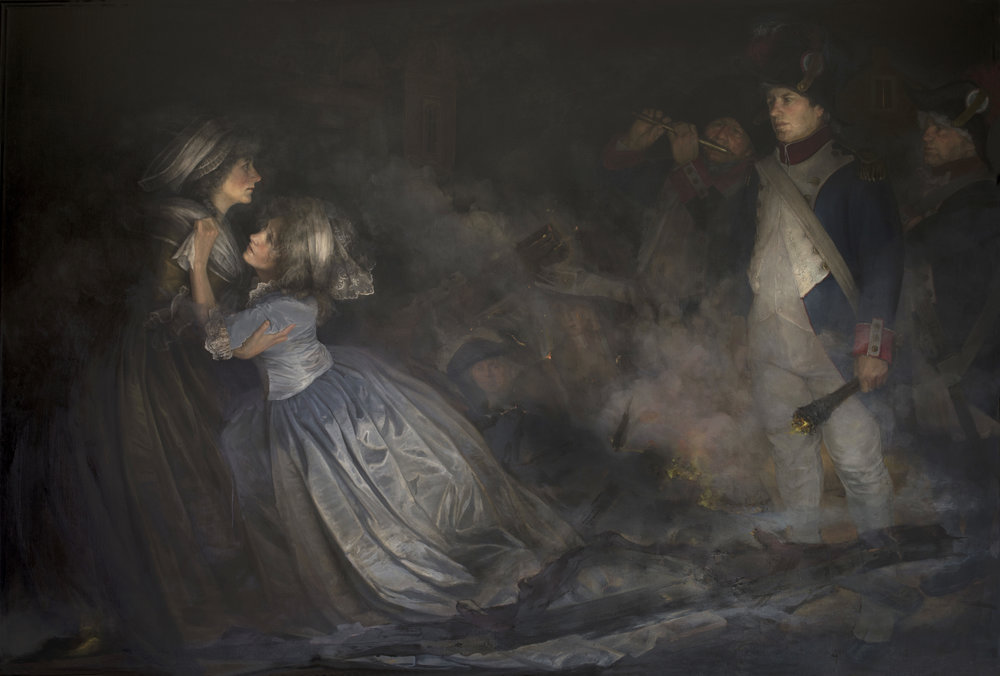The Burning of Adelaide Labille Guiard's Masterpiece by Gabriela Dellosso