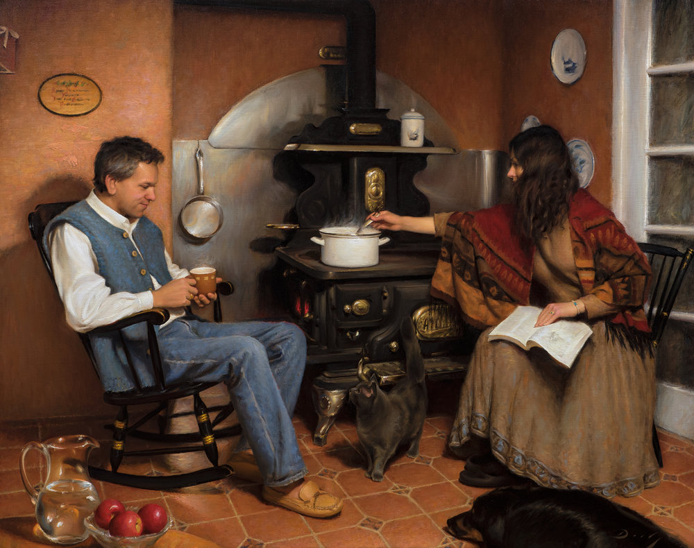 Hearth and Home, 32x40, by Joseph Daily